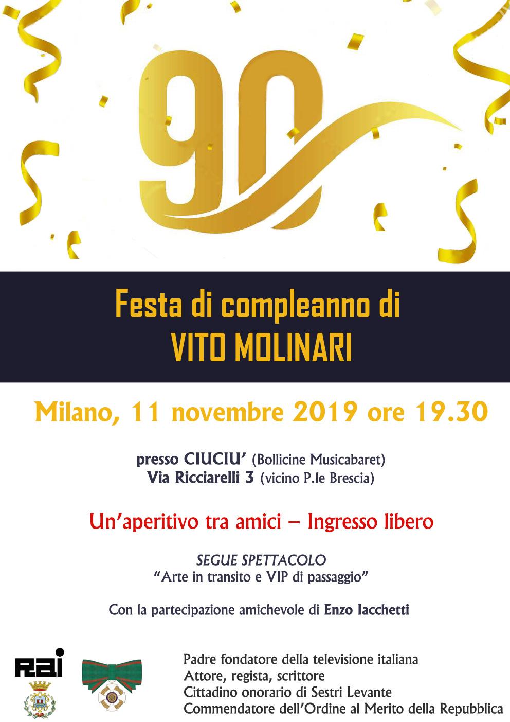 Festa di compleanno Vito Molinari