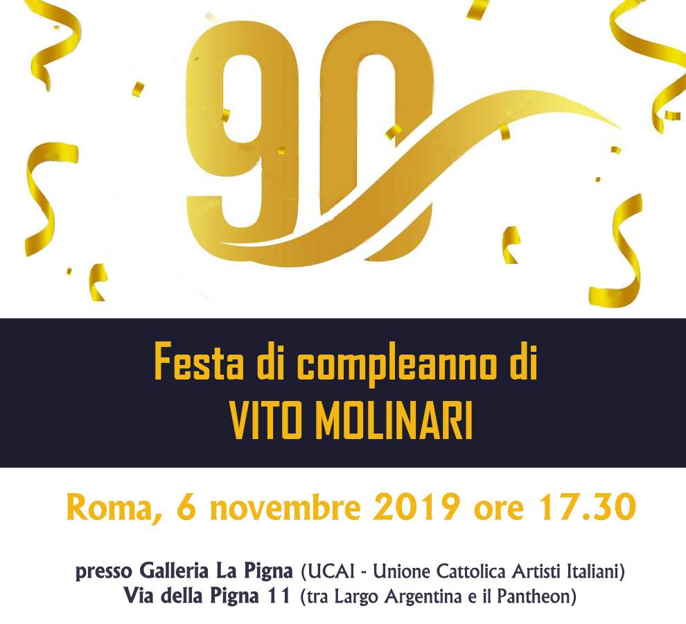 Feta di compleanno di Vito Molinari a Roma