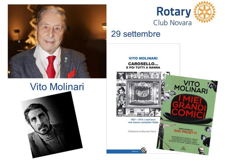Vito Molinari al Rotary di Novara