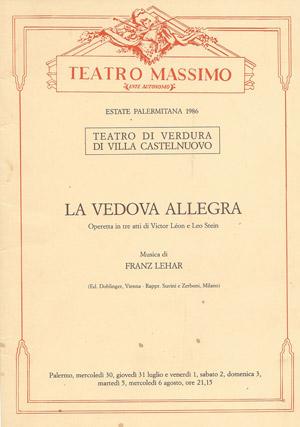 La vedova allegra - regia di Vito Molinari